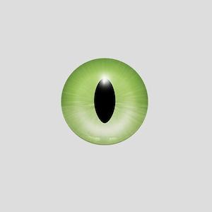 Kitten's Green Eye - Halloween Mini Button