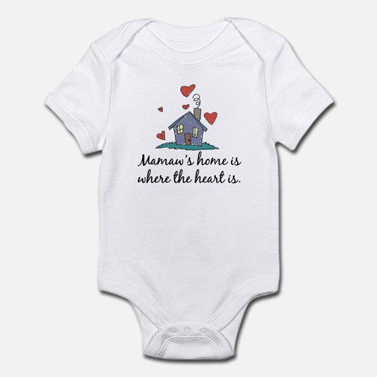 Mamaw's Home is Where the Heart Is Infant Bodysuit