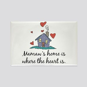 Mamaw's Home is Where the Heart Is Rectangle Magne