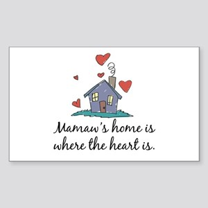 Mamaw's Home is Where the Heart Is Sticker (Rectan