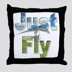 Just Fly Hang Gliding Throw Pillow