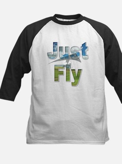 Just Fly Hang Gliding Kids Baseball Jersey