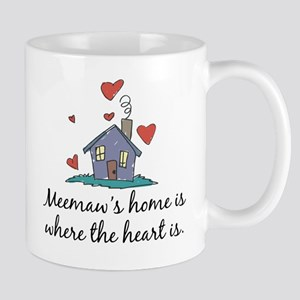 Meemaw's Home is Where the Heart Is Mug