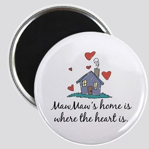 MawMaw's Home is Where the Heart Is Magnet