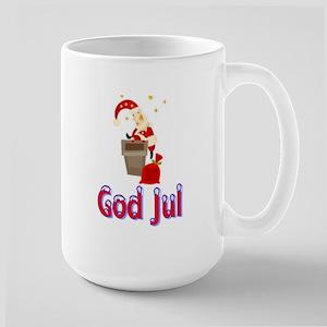 God Jul Santa Chimney Large Mug