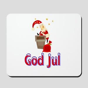 God Jul Santa Chimney Mousepad