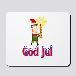 God Jul Wreath Mousepad