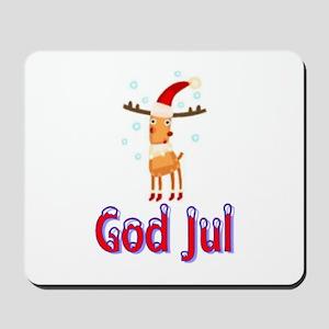 God Jul Reindeer Mousepad