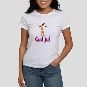 God Jul Reindeer Women's T-Shirt