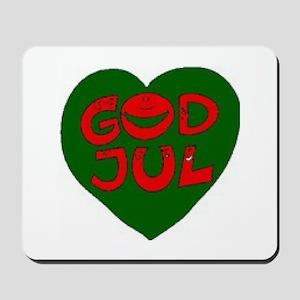 God Jul Heart Mousepad