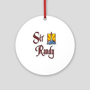 Sir Randy Ornament (Round)
