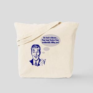 Riyah-Li Designs Be Kind to Nurses Tote Bag