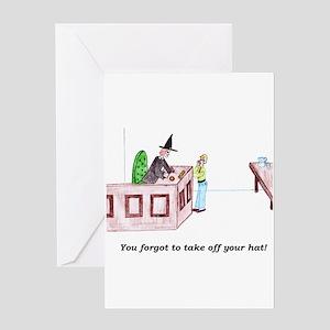 Forgetful Judge Greeting Card