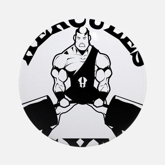 Hercules Gym Round Ornament