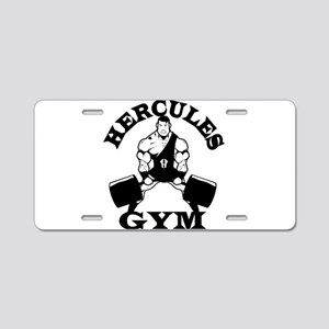 Hercules Gym Aluminum License Plate