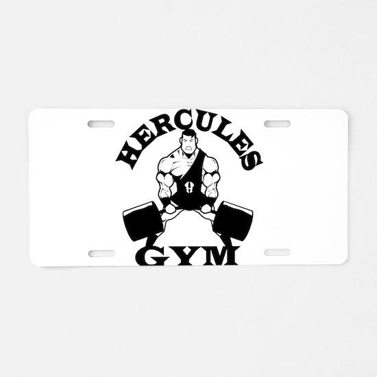 Hercules Gym Aluminum License Plate