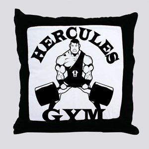 Hercules Gym Throw Pillow