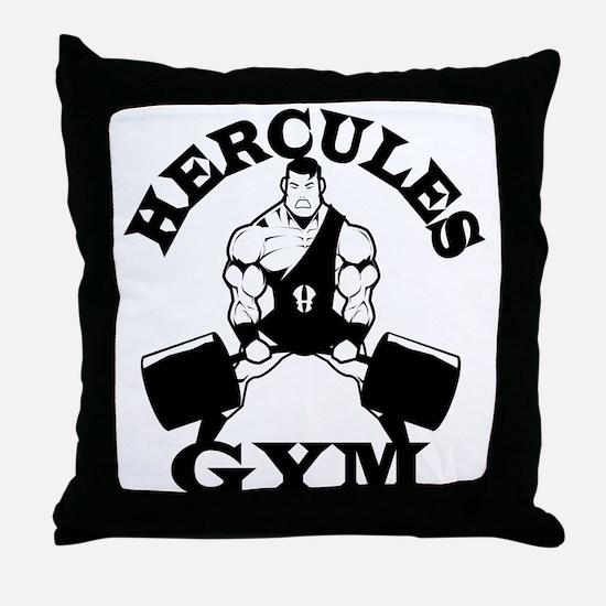 Hercules Gym Throw Pillow