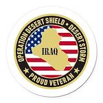 Desert Storm Veteran Round Car Magnet