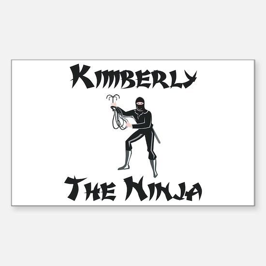 Kimberly - The Ninja Rectangle Decal