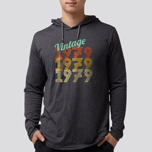 40th Birthday Vintage 1979 Cla Long Sleeve T-Shirt