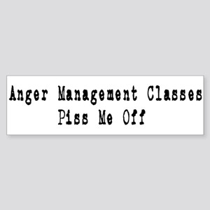Anger Management Classes Piss Bumper Sticker