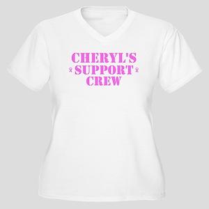 Cheryl Support Crew Women's Plus Size V-Neck T-Shi