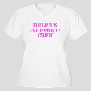 Helen Support Crew Women's Plus Size V-Neck T-Shir