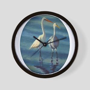 Egrets of Emerald Isle Wall Clock