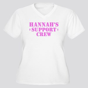 Hannah Support Crew Women's Plus Size V-Neck T-Shi