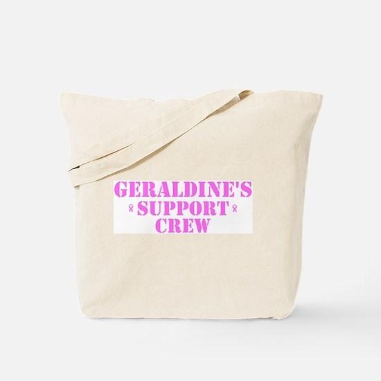 Geraldine Support Crew Tote Bag