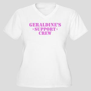 Geraldine Support Crew Women's Plus Size V-Neck T-
