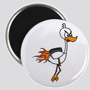 Angry Jetpack Duck Magnet