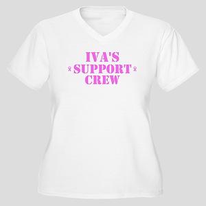 Ivs Support Crew Women's Plus Size V-Neck T-Shirt