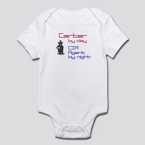 Carter - CIA Agent by Night Infant Bodysuit