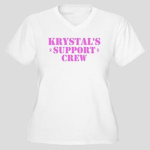 Krystal Support Crew Women's Plus Size V-Neck T-Sh