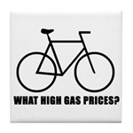 'What high gas prices?' (cycling) Tile Coaster