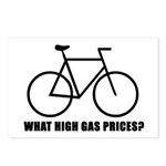 'What high gas prices?' (cycling) Postcards (Packa