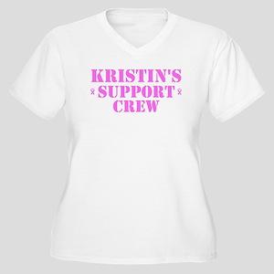 Kristin Support Crew Women's Plus Size V-Neck T-Sh