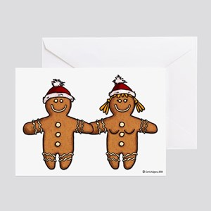 gingerbread couple Greeting Cards (Pk of 20)