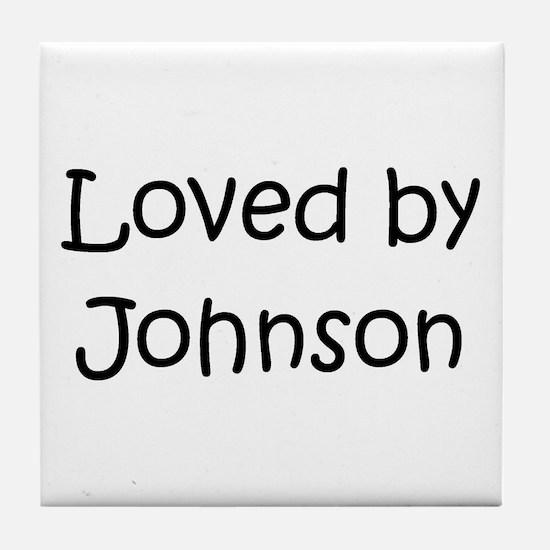 Cute Johnson Tile Coaster