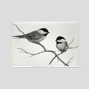 chickadee song bird Magnets