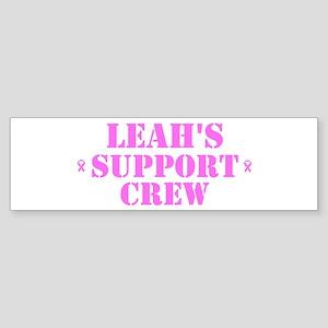 Leah Support Crew Bumper Sticker