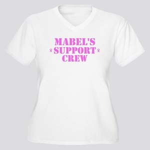 Mabel Support Crew Women's Plus Size V-Neck T-Shir