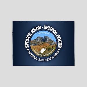 Spruce Knob - Seneca Rocks 5'x7'Area Rug