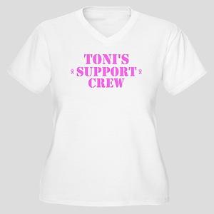 Toni Support Crew Women's Plus Size V-Neck T-Shirt