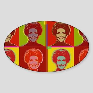 Nancy Reagan Oval Sticker