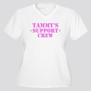 Tammy Support Crew Women's Plus Size V-Neck T-Shir