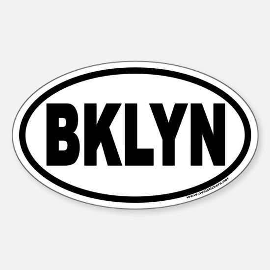 Brooklyn, New York BKLYN Euro Oval Decal