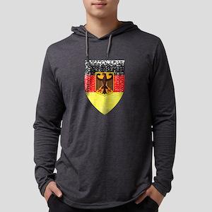 Distressed Deutschland Shield Long Sleeve T-Shirt